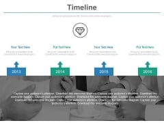 Four Linear Arrows Timeline For Business Agenda Powerpoint Slides