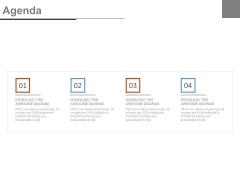 Four Linear Steps Business Agenda Diagram Powerpoint Slides