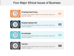 Four Major Ethical Issues Of Business Ppt PowerPoint Presentation Ideas Example Introduction