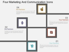 Four Marketing And Communication Icons Powerpoint Templates