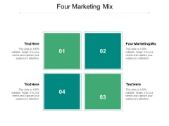 Four Marketing Mix Ppt PowerPoint Presentation Model Summary Cpb