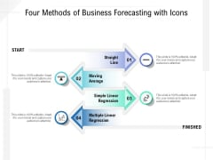 Four Methods Of Business Forecasting With Icons Ppt PowerPoint Presentation Layouts Backgrounds