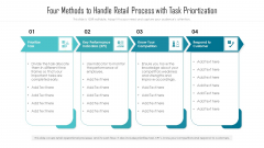 Four Methods To Handle Retail Process With Task Priortization Ppt Styles Show PDF