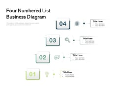Four Numbered List Business Diagram Ppt PowerPoint Presentation Gallery Graphic Images