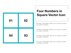 Four Numbers In Square Vector Icon Ppt PowerPoint Presentation Layouts Elements
