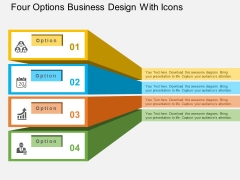 Four Options Business Design With Icons Powerpoint Templates
