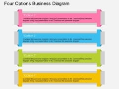 Four Options Business Diagram Powerpoint Template