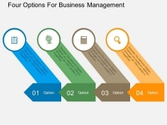 Four Options For Business Management Powerpoint Template