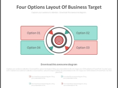 Four Options Layout Of Business Target Powerpoint Slides
