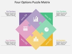 Four Options Puzzle Matrix Powerpoint Template