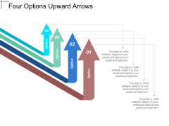 Four Options Upward Arrows Ppt PowerPoint Presentation Show Mockup
