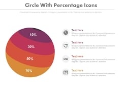 Four Parts Circle Chart With Percentage Ratio Powerpoint Slides