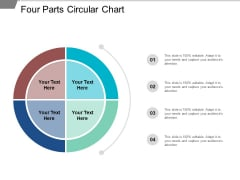 Four Parts Circular Chart Ppt PowerPoint Presentation Styles Skills