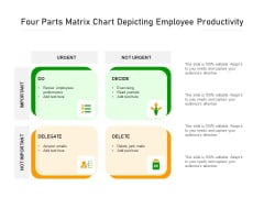 Four Parts Matrix Chart Depicting Employee Productivity Ppt PowerPoint Presentation Icon Background Images PDF
