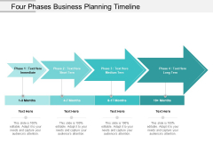 Four Phases Business Planning Timeline Ppt PowerPoint Presentation Ideas Clipart Images