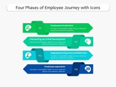 Four Phases Of Employee Journey With Icons Ppt PowerPoint Presentation Gallery Introduction PDF
