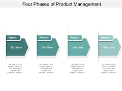 Four Phases Of Product Management Ppt PowerPoint Presentation Summary