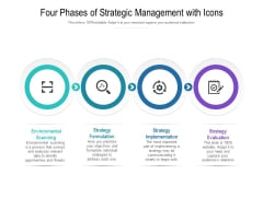 Four Phases Of Strategic Management With Icons Ppt PowerPoint Presentation Styles Brochure