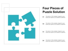 Four Pieces Of Puzzle Solution Ppt Powerpoint Presentation Ideas Inspiration