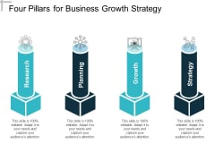 Four Pillars For Business Growth Strategy Ppt Powerpoint Presentation Professional Deck