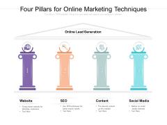 Four Pillars For Online Marketing Techniques Ppt PowerPoint Presentation Portfolio Skills