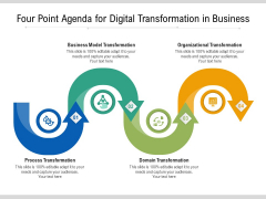Four Point Agenda For Digital Transformation In Business Ppt PowerPoint Presentation Gallery Background PDF