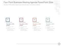 Four Point Business Meeting Agenda Ppt PowerPoint Presentation Influencers