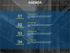 Four Points Business Agenda Chart Powerpoint Slides