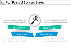 Four Points Of Business Survey Ppt PowerPoint Presentation Outline Vector PDF