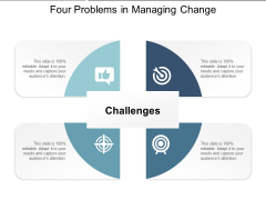 Four Problems In Managing Change Ppt PowerPoint Presentation Layouts Themes
