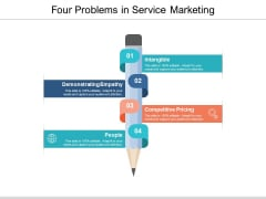 Four Problems In Service Marketing Ppt PowerPoint Presentation Slides Examples