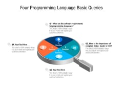 Four Programming Language Basic Queries Ppt PowerPoint Presentation Gallery Example File PDF