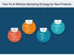 Four Ps Of Effective Marketing Strategy For New Products Ppt PowerPoint Presentation File Backgrounds PDF