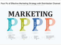 Four Ps Of Effective Marketing Strategy With Distribution Channel Ppt PowerPoint Presentation Gallery Influencers PDF