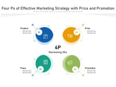 Four Ps Of Effective Marketing Strategy With Price And Promotion Ppt PowerPoint Presentation File Deck PDF