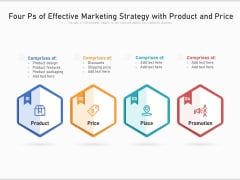 Four Ps Of Effective Marketing Strategy With Product And Price Ppt PowerPoint Presentation File Gallery PDF