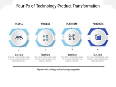 Four Ps Of Technology Product Transformation Ppt PowerPoint Presentation Ideas Graphics Tutorials PDF