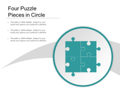 Four Puzzle Pieces In Circle Ppt Powerpoint Presentation Outline Show