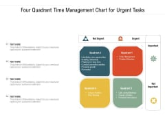 Four Quadrant Time Management Chart For Urgent Tasks Ppt Powerpoint Presentation Layouts Example Introduction Pdf