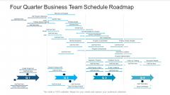 Four Quarter Business Team Schedule Roadmap Designs