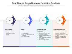 Four Quarter Cargo Business Expansion Roadmap Formats