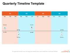 Four Quarter Milestone Plan Quarterly Timeline Template Ppt PowerPoint Presentation Infographics Influencers PDF