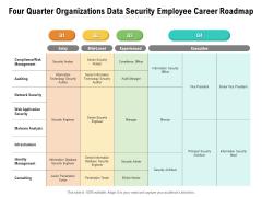 Four Quarter Organizations Data Security Employee Career Roadmap Download