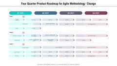 Four Quarter Product Roadmap For Agile Methodology Change Information