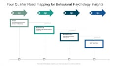Four Quarter Road Mapping For Behavioral Psychology Insights Sample