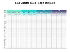 Four Quarter Sales Report Template Ppt PowerPoint Presentation Model Smartart