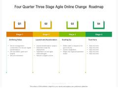 Four Quarter Three Stage Agile Online Change Roadmap Mockup
