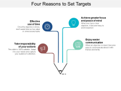 Four Reasons To Set Targets Ppt PowerPoint Presentation Model Graphics Download