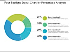 Four Sections Donut Chart For Percentage Analysis Ppt PowerPoint Presentation Styles Portrait PDF