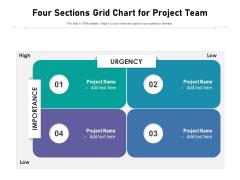 Four Sections Grid Chart For Project Team Ppt PowerPoint Presentation File Slide Portrait PDF